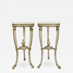 Pair of Swedish Neoclassical Giltwood and Painted Torchere - 1533666