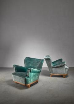Pair of Swedish easy chairs 1940s - 1174630