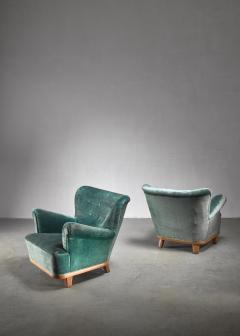 Pair of Swedish easy chairs 1940s - 1174631