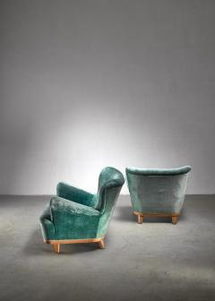 Pair of Swedish easy chairs 1940s - 1174632