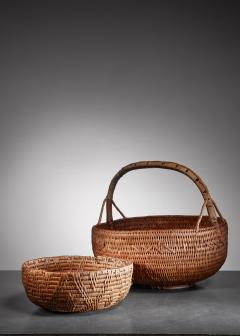 Pair of Swedish folk art baskets 19th Century - 952654