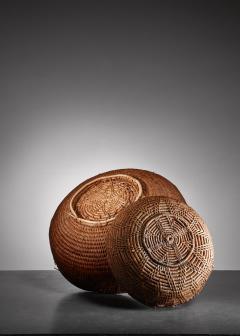 Pair of Swedish folk art baskets 19th Century - 952655