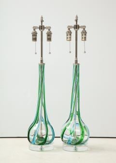 Pair of Swirled Murano Glass lamps  - 1924130