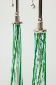 Pair of Swirled Murano Glass lamps  - 1924133