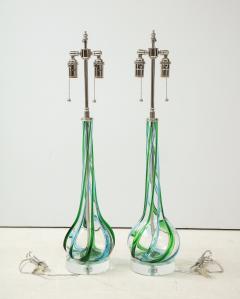Pair of Swirled Murano Glass lamps  - 1924139