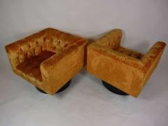Pair of Swivel Cube Lounge Chairs - 355087