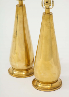 Pair of Tall Brass Lamps - 1933917
