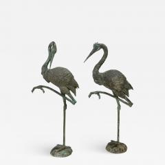 Pair of Tall Bronze Sculptural Cranes - 1704736