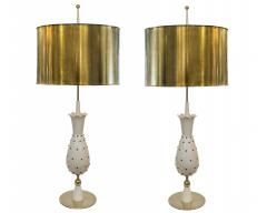 Pair of Tall Vintage Hollywood Glam Pineapple Table Lamps From Switzerland - 595705