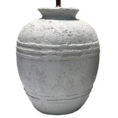 Pair of Textured Ceramic Lamps - 1163345