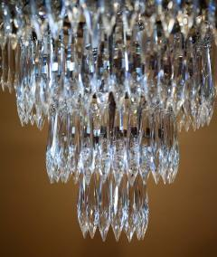 Pair of Three Light Tent and Cascade Chandeliers - 1065562