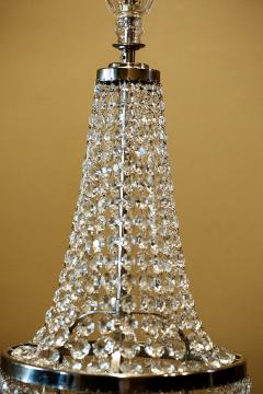 Pair of Three Light Tent and Cascade Chandeliers - 1065569