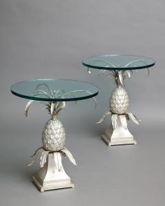 Pair of Toleware and Glass Side Tables - 238326