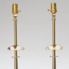 Pair of Tommi Parzinger Style Brass Lamps - 970662