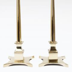 Pair of Tommi Parzinger Style Brass Lamps - 970663
