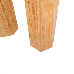 Pair of Travertine costume hexagonal pedestals - 1019821