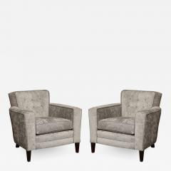 Pair of Tufted Club Chairs - 1195124