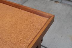 Pair of Two Tier Cork Top Side Tables - 2053567