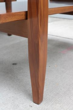 Pair of Two Tier Cork Top Side Tables - 2053568