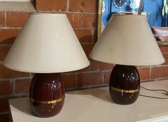 Pair of Two Vintage Italian Table Lamp 1960s  - 1594470