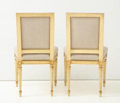 Pair of Upholstered Louis XVI Side Chairs - 1100025