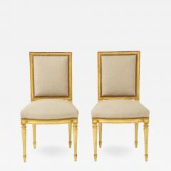 Pair of Upholstered Louis XVI Side Chairs - 1100923