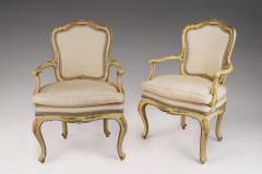 Pair of Venetian Creame Fauteuils with Original Paint - 118221