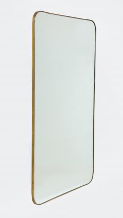 Pair of Very Large Italian Brass Framed Midcentury Mirrors Italy 1950s - 2066604