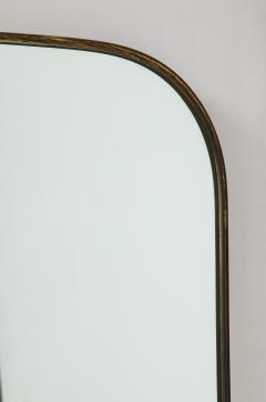 Pair of Very Large Italian Brass Framed Midcentury Mirrors Italy 1950s - 2066608
