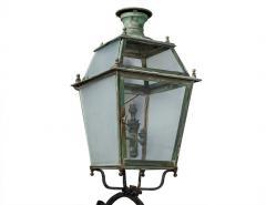 Pair of Victorian Style Iron and Glass Parisian Street Lanterns - 2135283