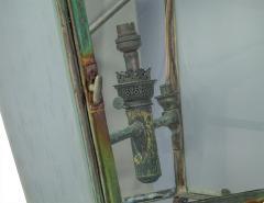 Pair of Victorian Style Iron and Glass Parisian Street Lanterns - 2135285