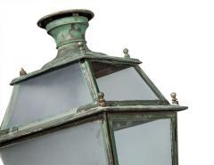 Pair of Victorian Style Iron and Glass Parisian Street Lanterns - 2135287