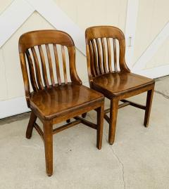 Pair of Vintage Bankers Chairs by Sikes of Buffalo N Y  - 1831225
