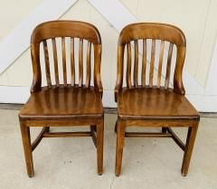 Pair of Vintage Bankers Chairs by Sikes of Buffalo N Y  - 1831226