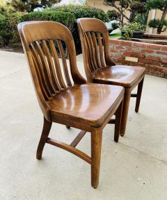 Pair of Vintage Bankers Chairs by Sikes of Buffalo N Y  - 1831227
