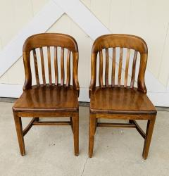 Pair of Vintage Bankers Chairs by Sikes of Buffalo N Y  - 1831228