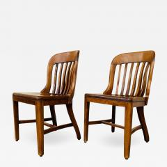 Pair of Vintage Bankers Chairs by Sikes of Buffalo N Y  - 1832867