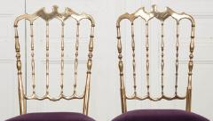 Pair of Vintage Italian Brass Opera Chairs - 1216439