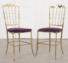 Pair of Vintage Italian Brass Opera Chairs - 1216440