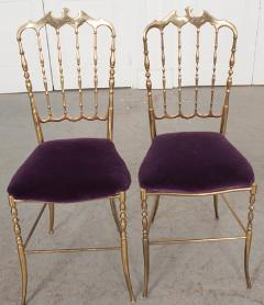 Pair of Vintage Italian Brass Opera Chairs - 1216441