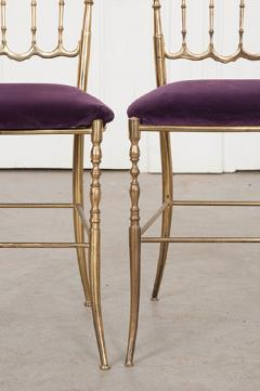 Pair of Vintage Italian Brass Opera Chairs - 1216443