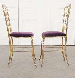 Pair of Vintage Italian Brass Opera Chairs - 1216444