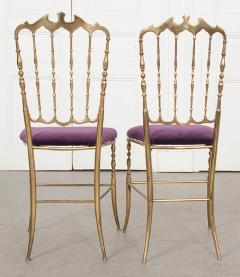 Pair of Vintage Italian Brass Opera Chairs - 1216445