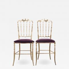 Pair of Vintage Italian Brass Opera Chairs - 1216621