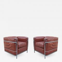 Pair of Vintage LC2 Corbusier Armchairs - 1008558