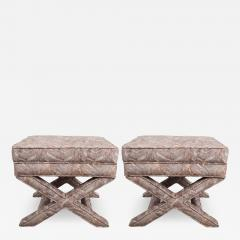 Pair of Vintage X Benches - 1100925