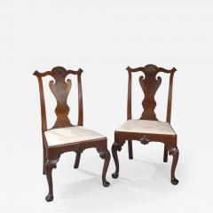 Pair of Walnut Philadelphia Chippendale Chairs - 1817471