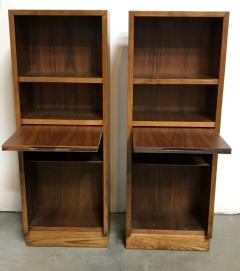 Pair of Walnut Side tables Nightstands - 1188649