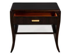 Pair of Water Fall Mozambique and Mahogany Night Stands - 1656253