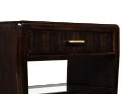 Pair of Water Fall Mozambique and Mahogany Night Stands - 1656257